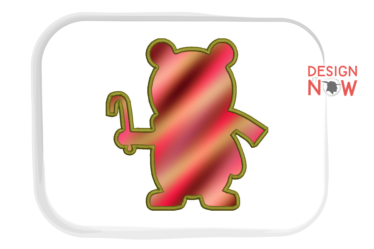 Holiday Bear Applique Design, Christmas Embroidery Pattern example image 5