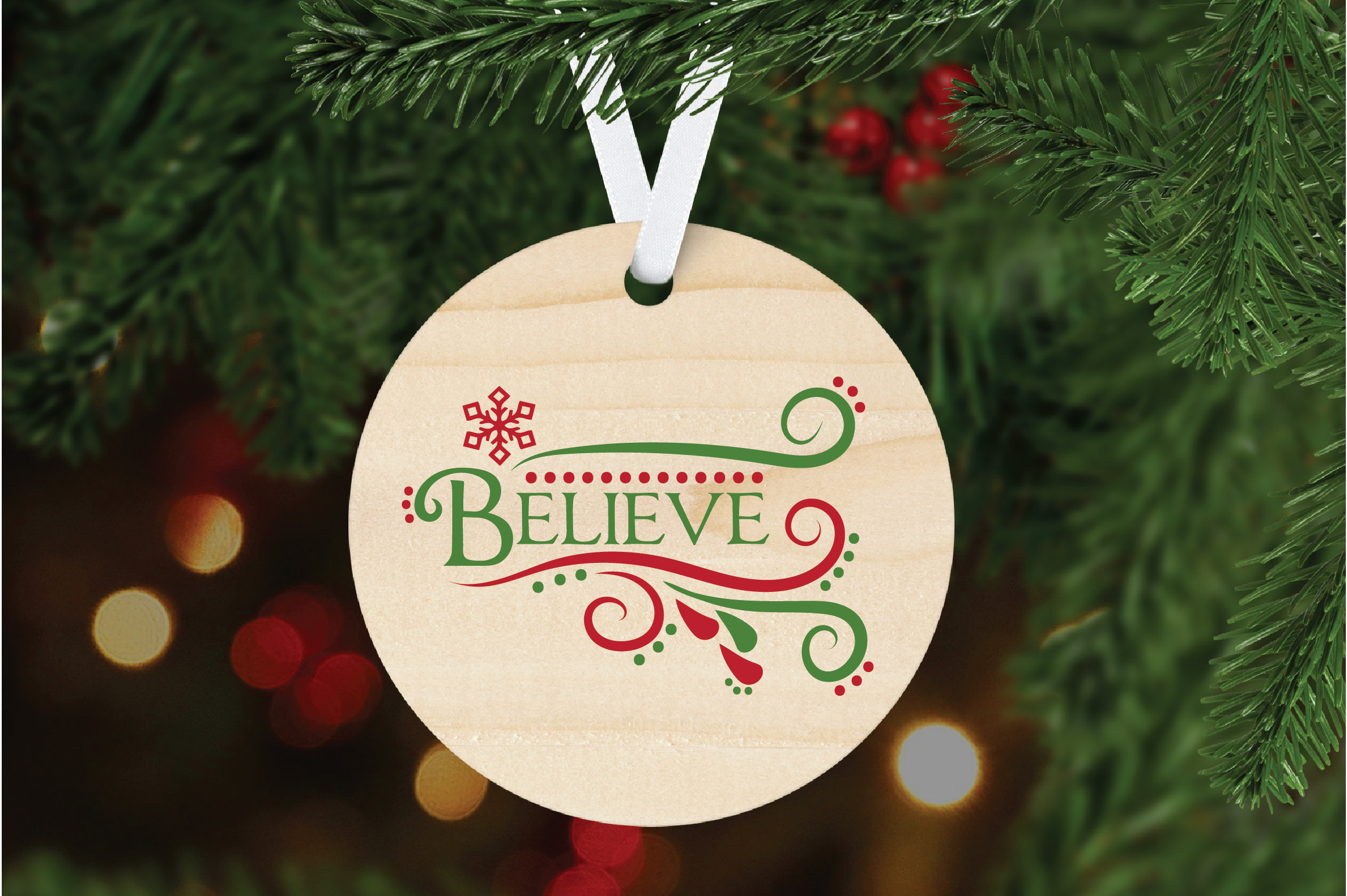 Believe SVG Cut File - Christmas SVG - DXF - PNG - EPS example image 5