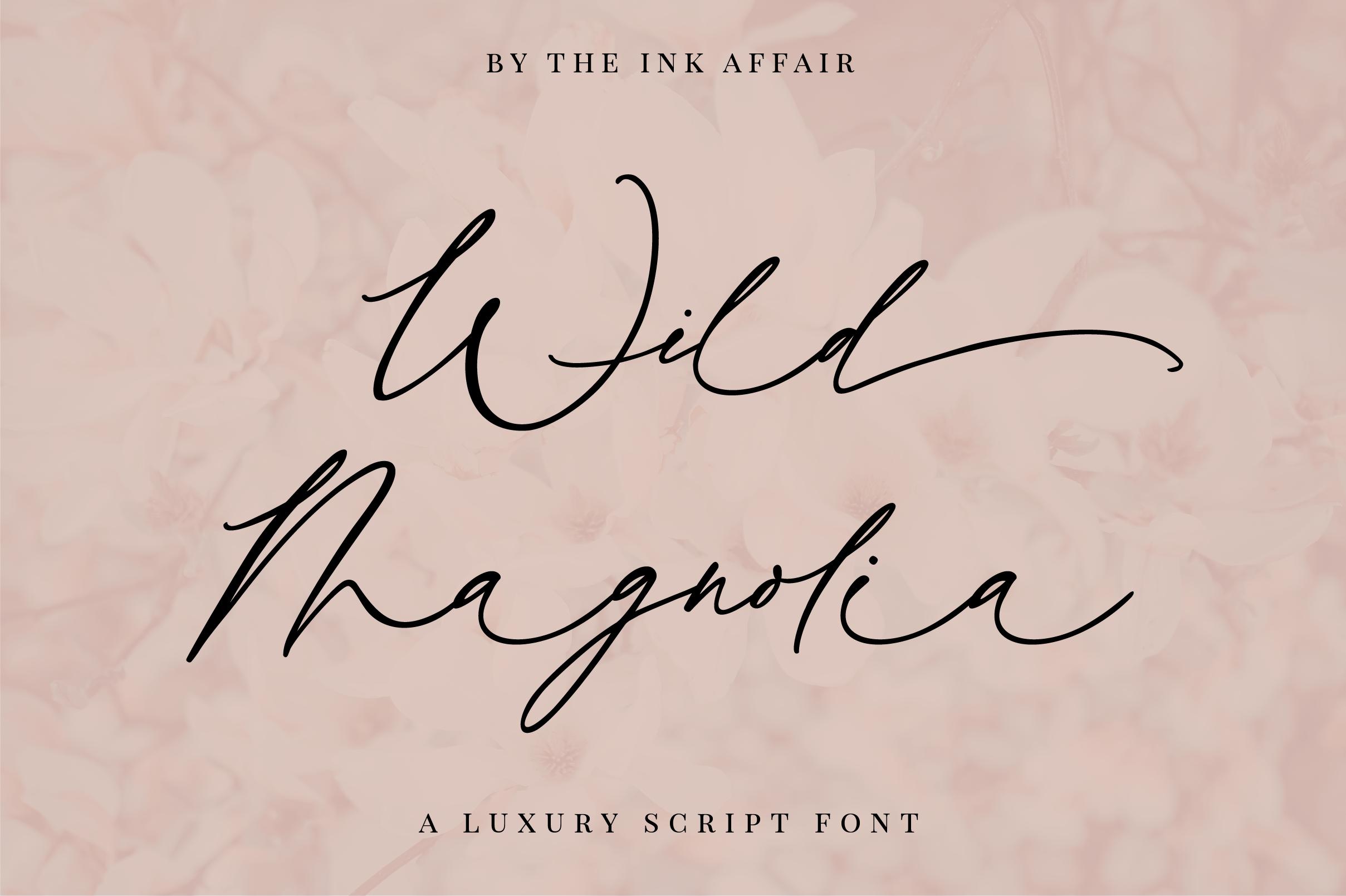 Wild Magnolia Signature Script Font example image 1