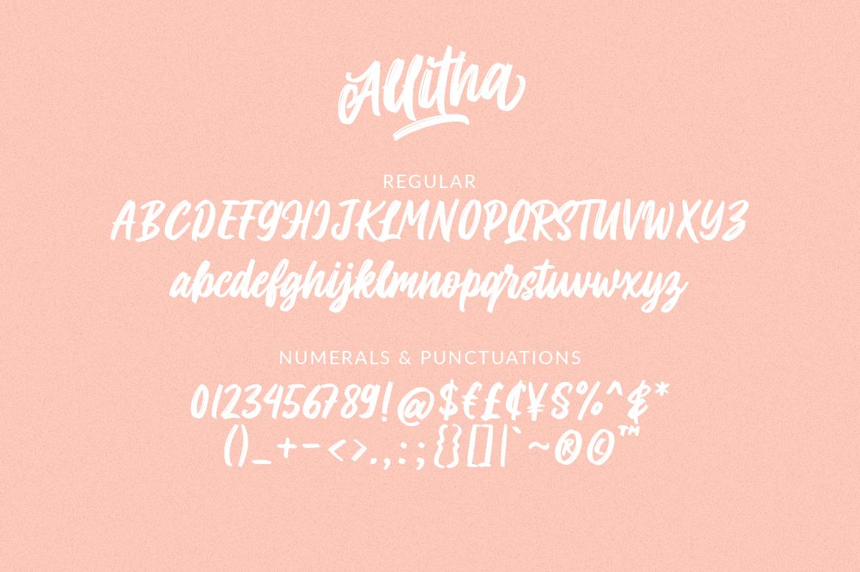 Allitha Handmade Script example image 10