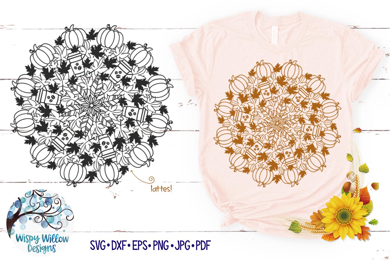 Pumpkin Latte Mandala SVG | Fall Mandala SVG | Fall SVG example image 1