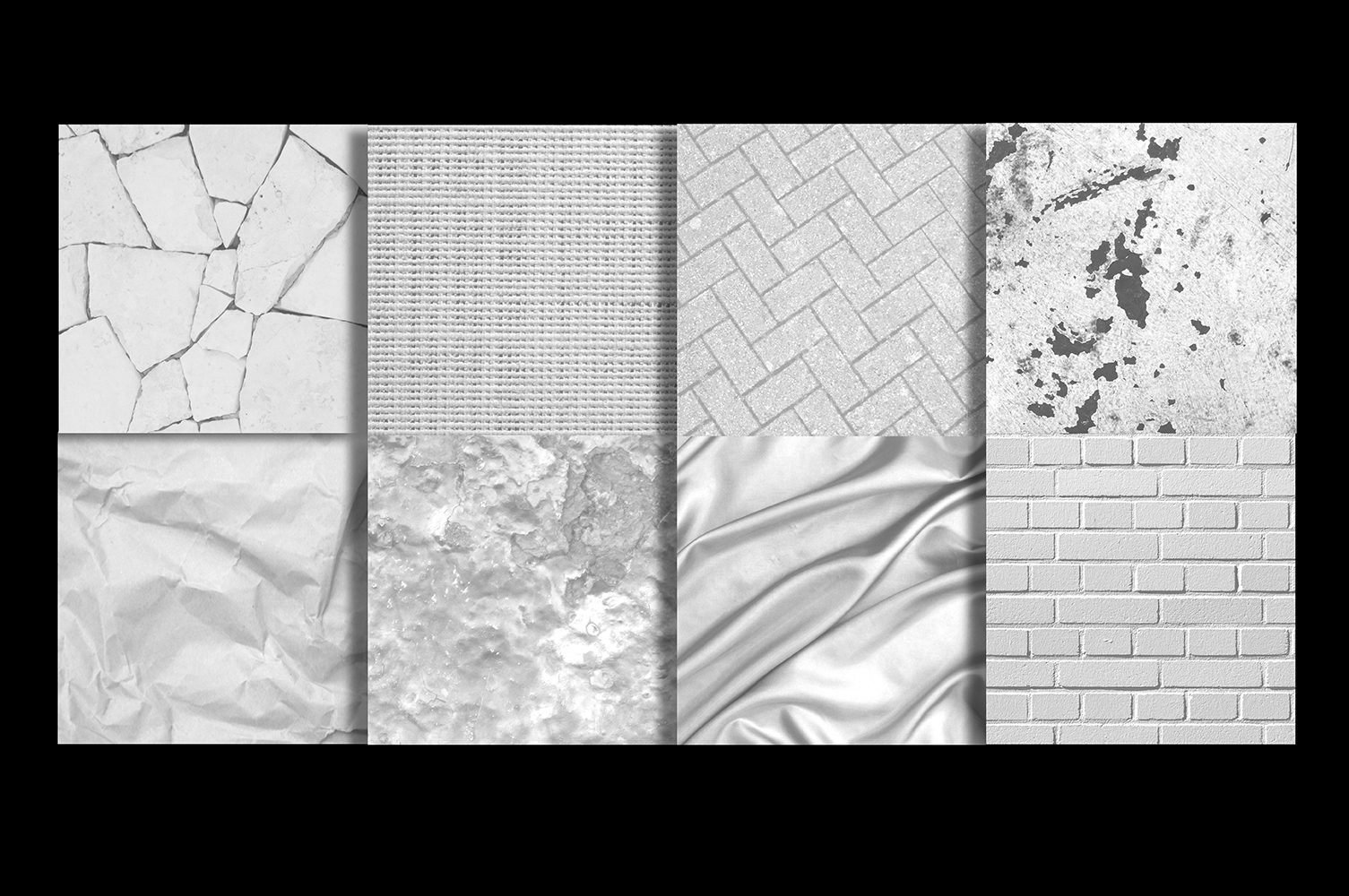 White Texture Background Images Digital Papers Bundle example image 3