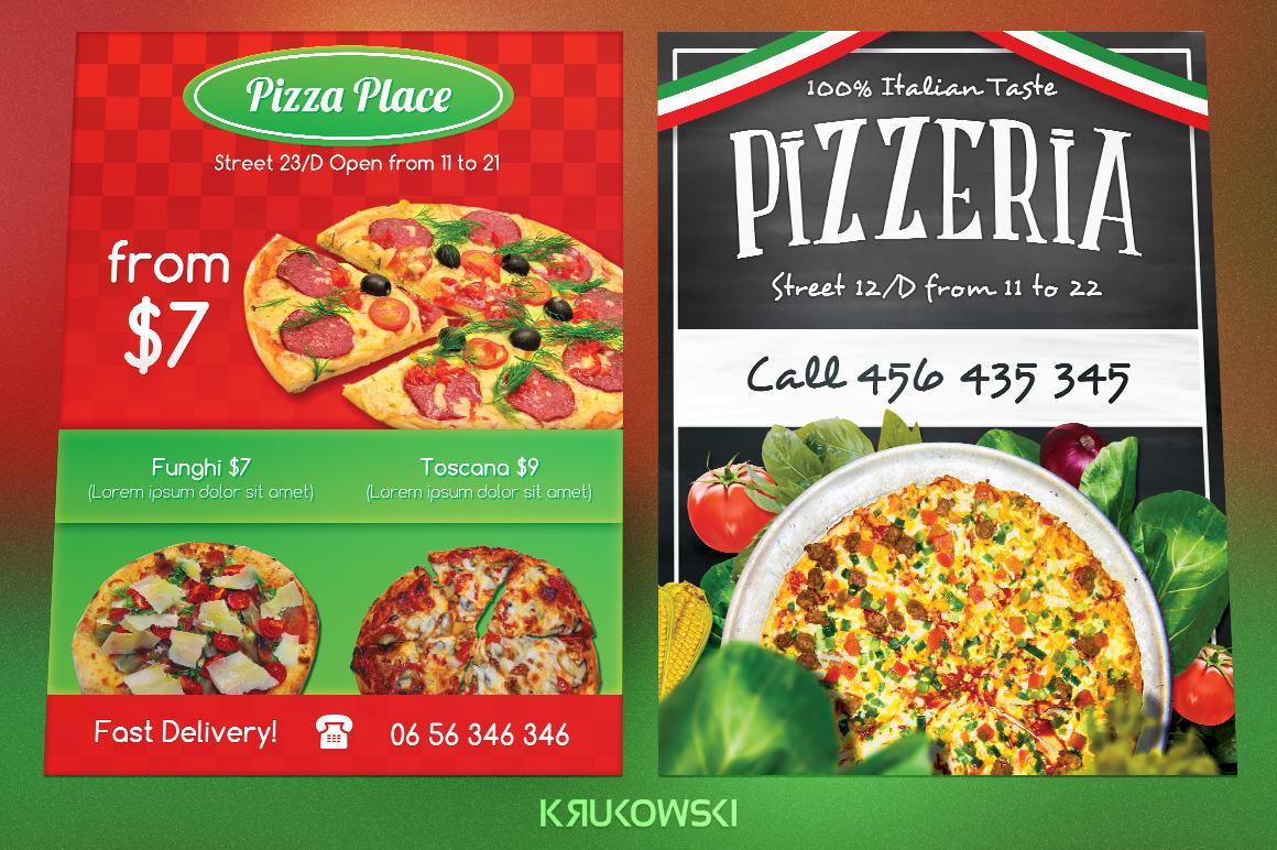 Pizzeria Flyers Bundle example image 2