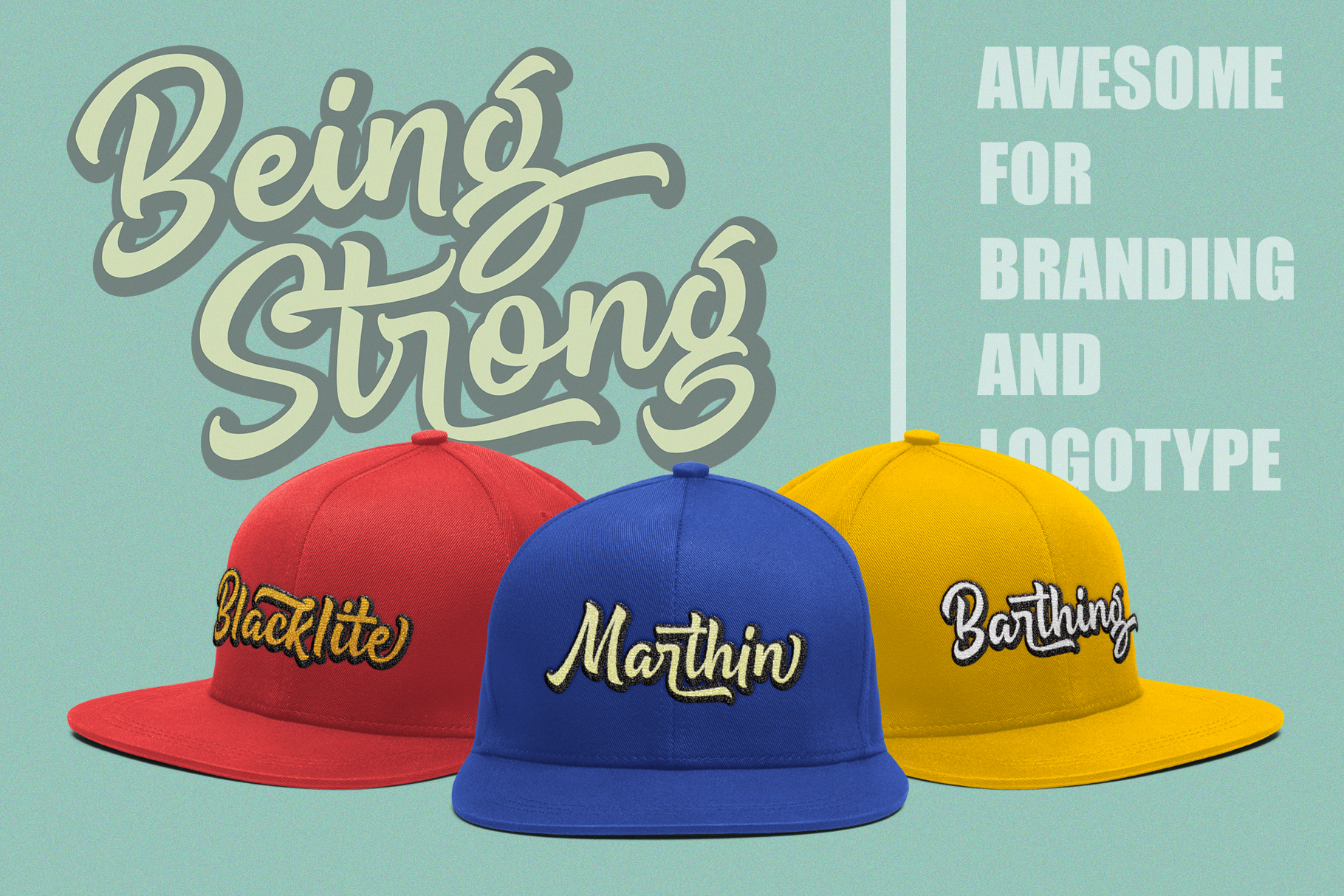 Being Strong Layered Font example image 7