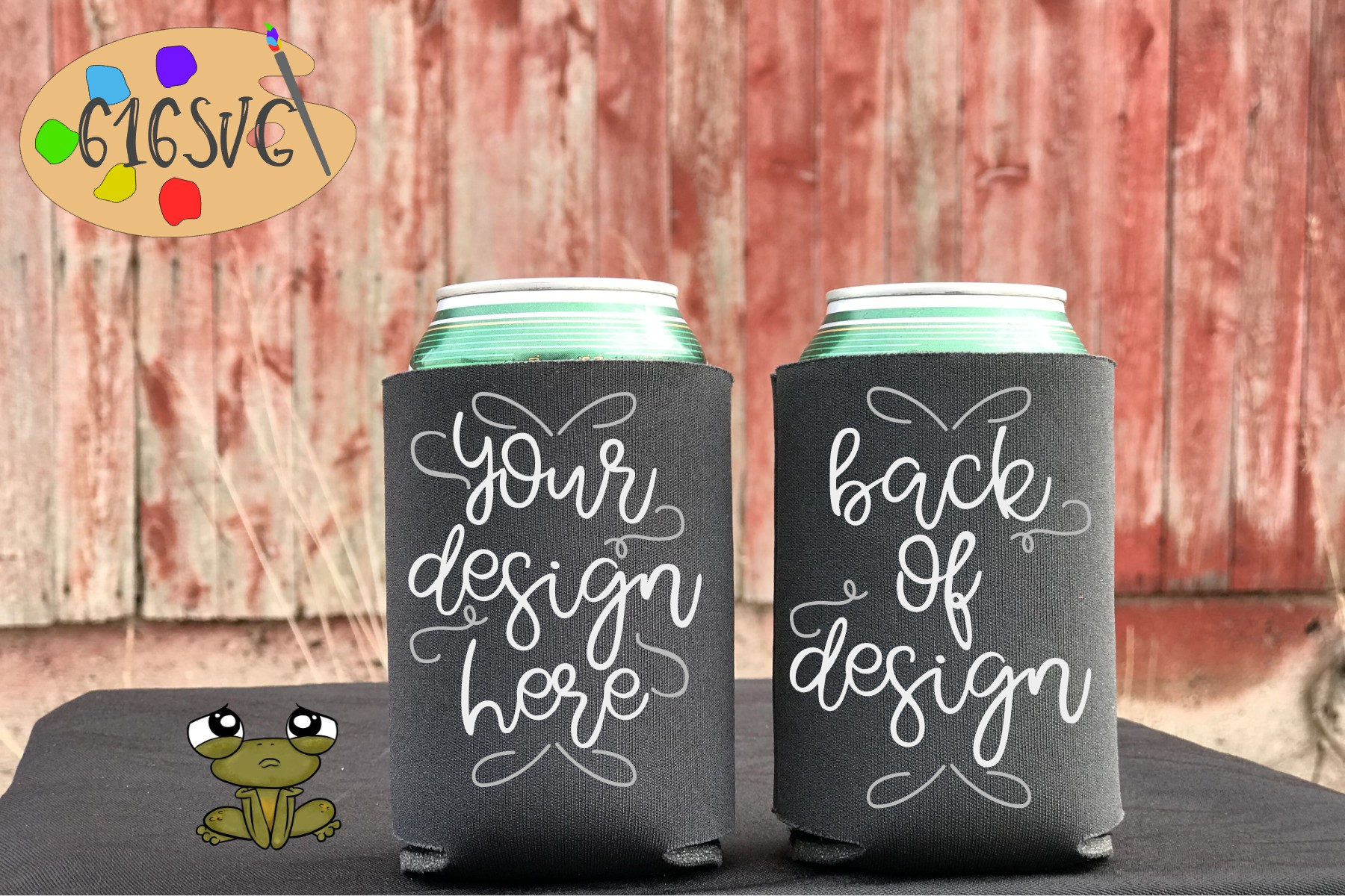 Charcoal Can Cooler Mockup example image 1