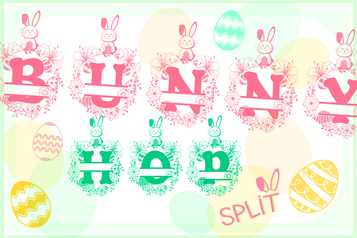 The Bunny Hop Split Font example image 1