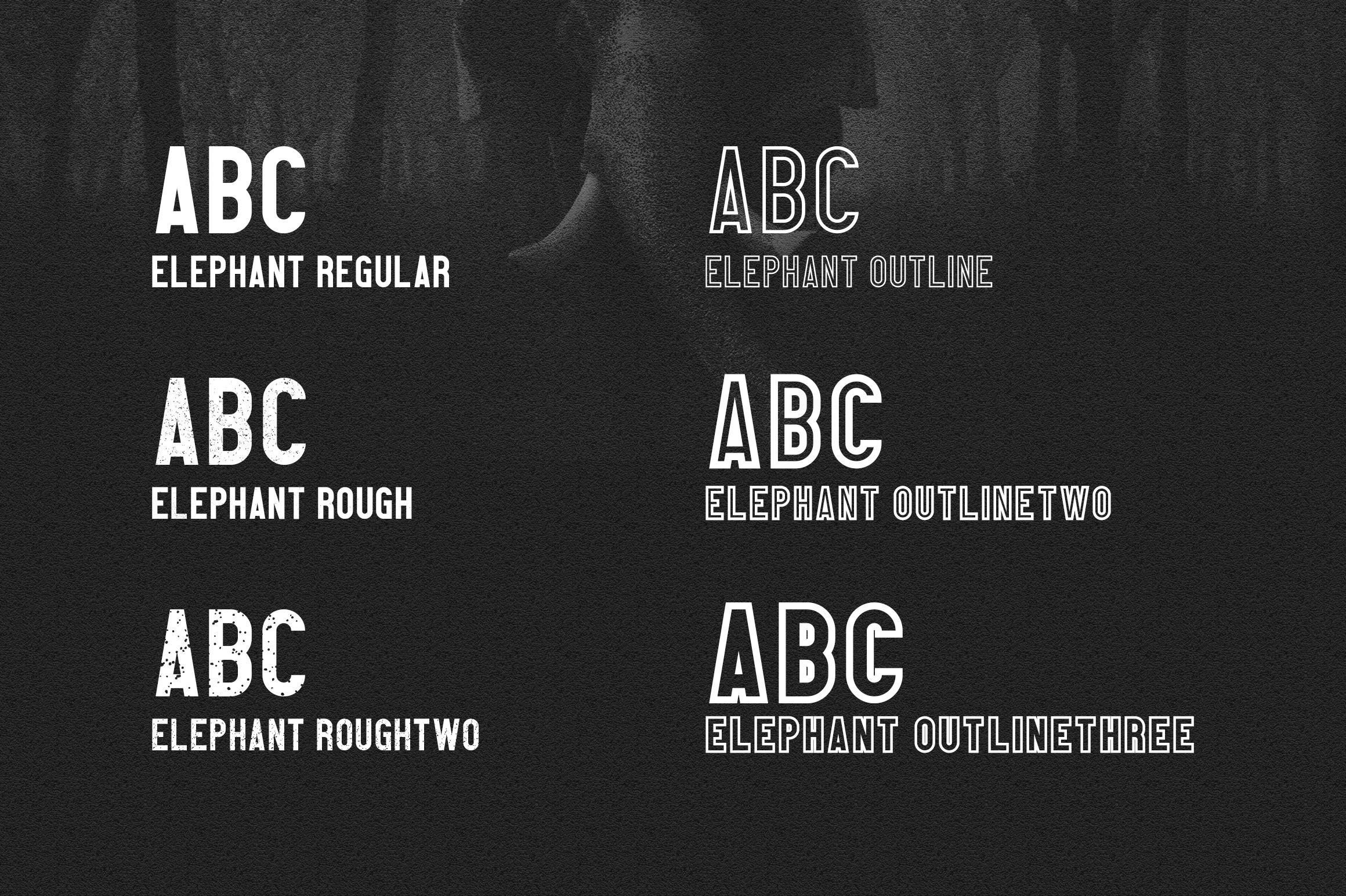 Elephant Font Family example image 2