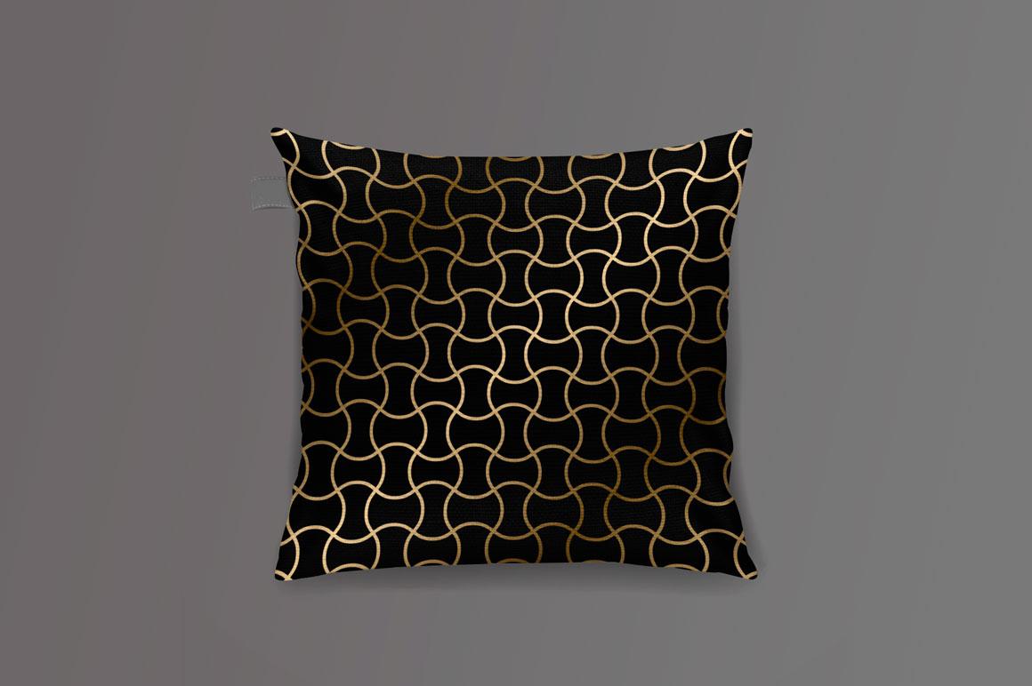 Golden seamless geometric patterns example image 4