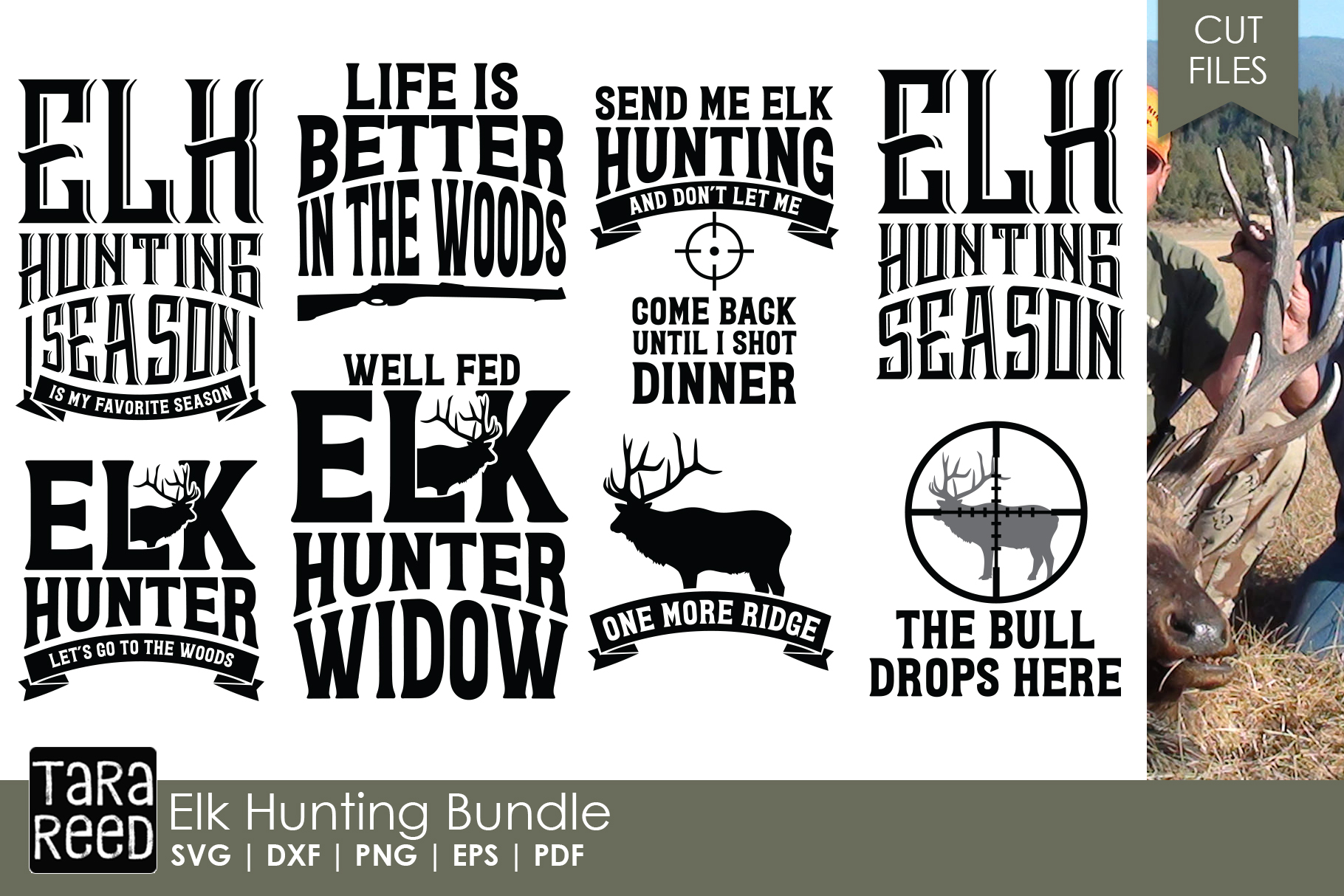 Elk Hunter - Hunting SVG and Cut Files for Crafters example image 1
