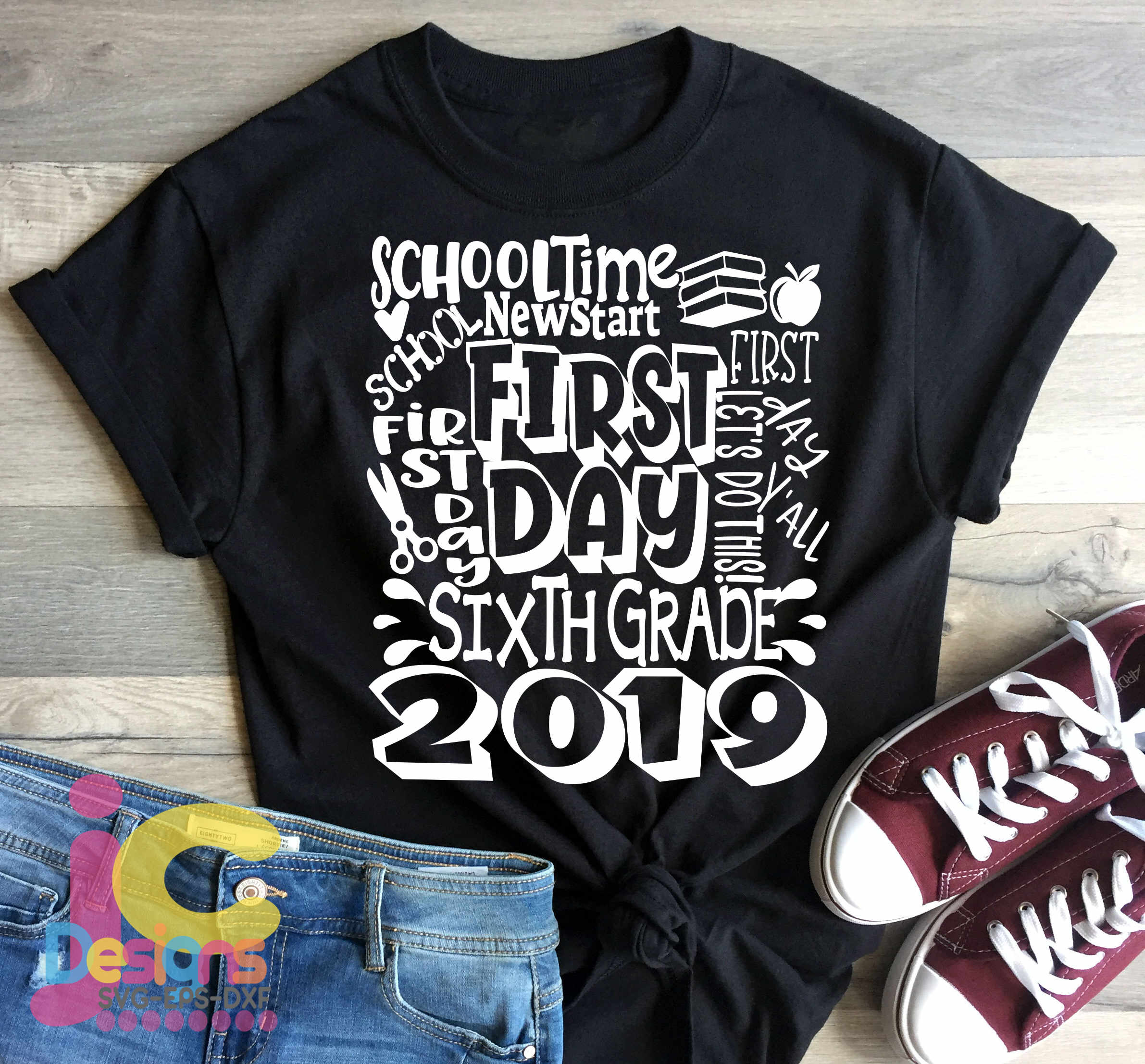 2019 6th Sixth Grade Back To School First Day Of School