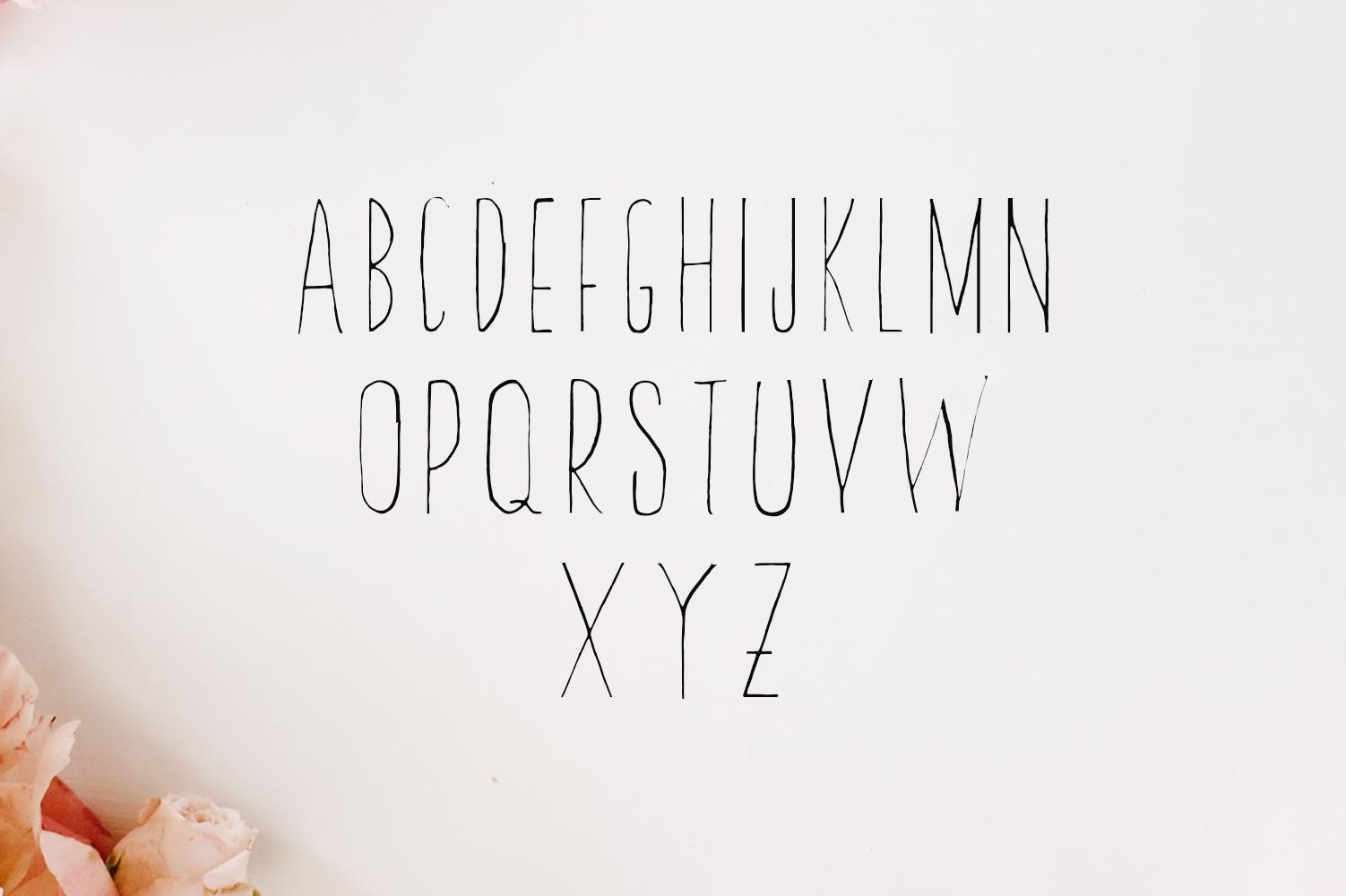 Abeetha Handmade Font example image 2