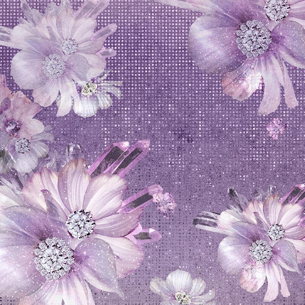 Valentines Purple Digital Paper example image 6