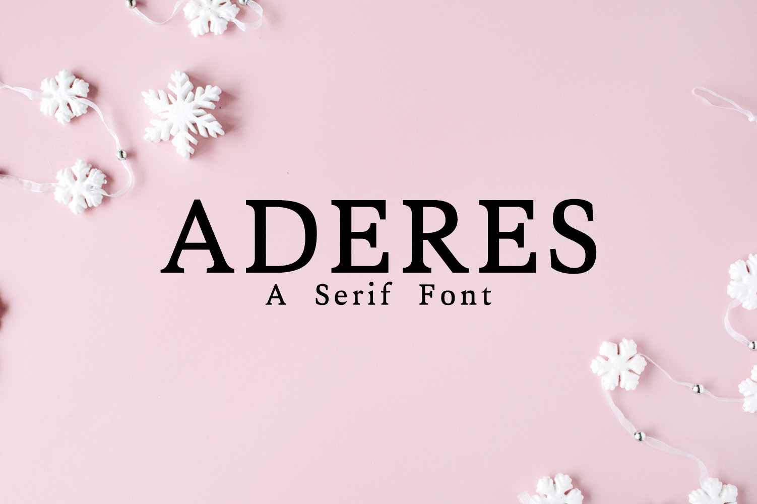 Aderes Serif Font Family example image 1