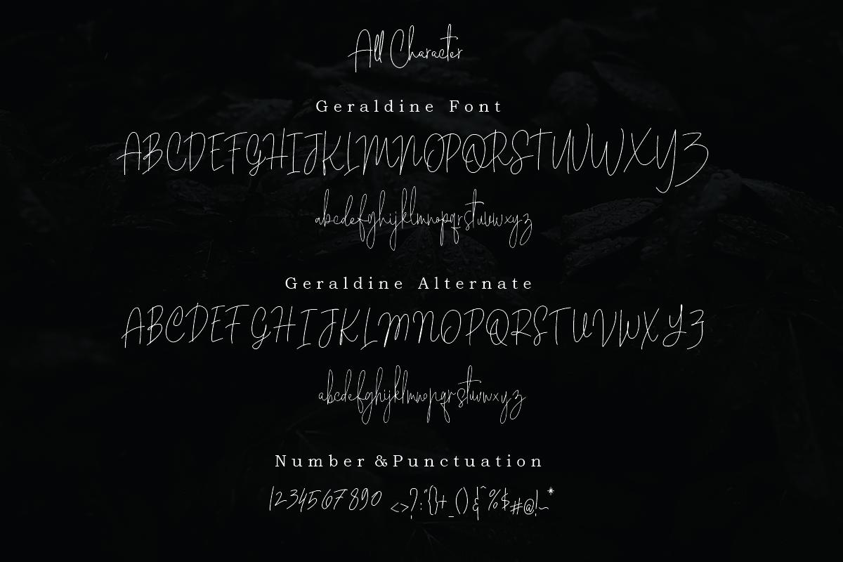 Geraldine | Hand Written Font example image 8