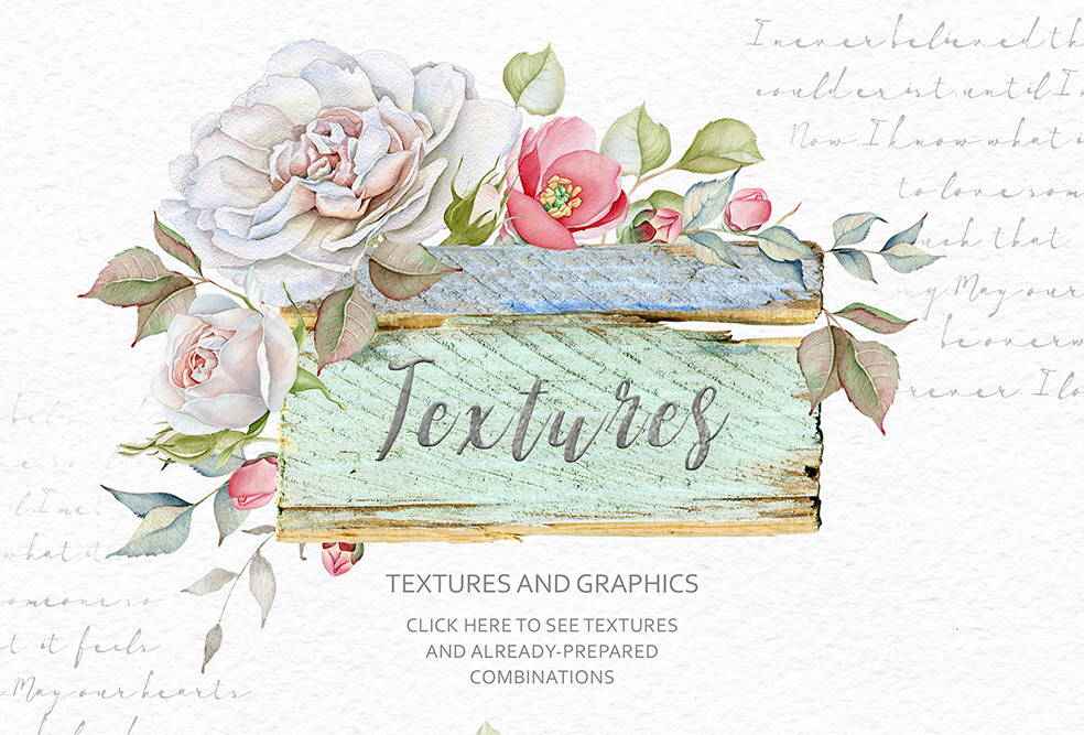 15%OFF. Watercolor Floral Collection example image 12