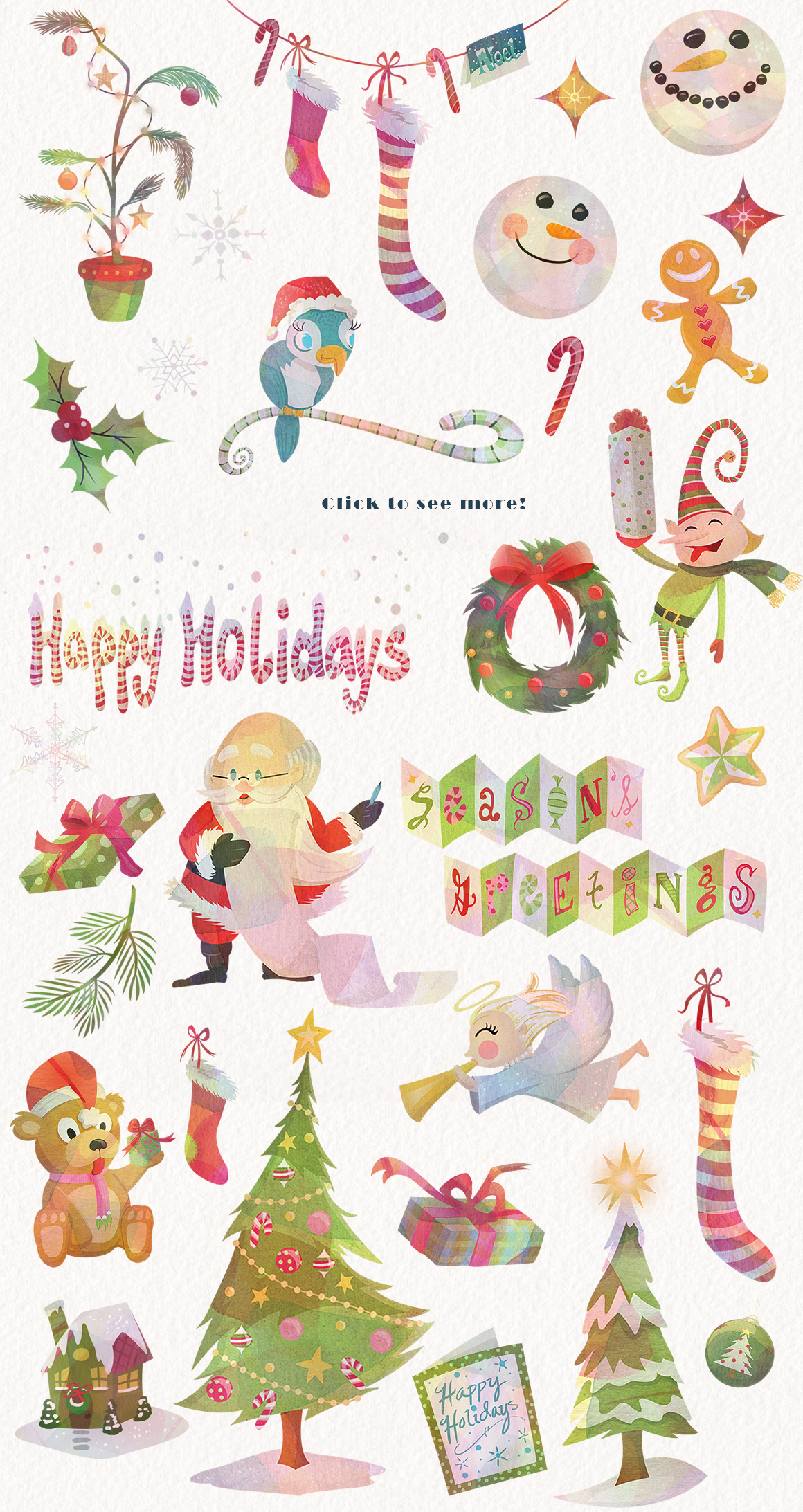 Season's Greetings Graphics Collection example image 2