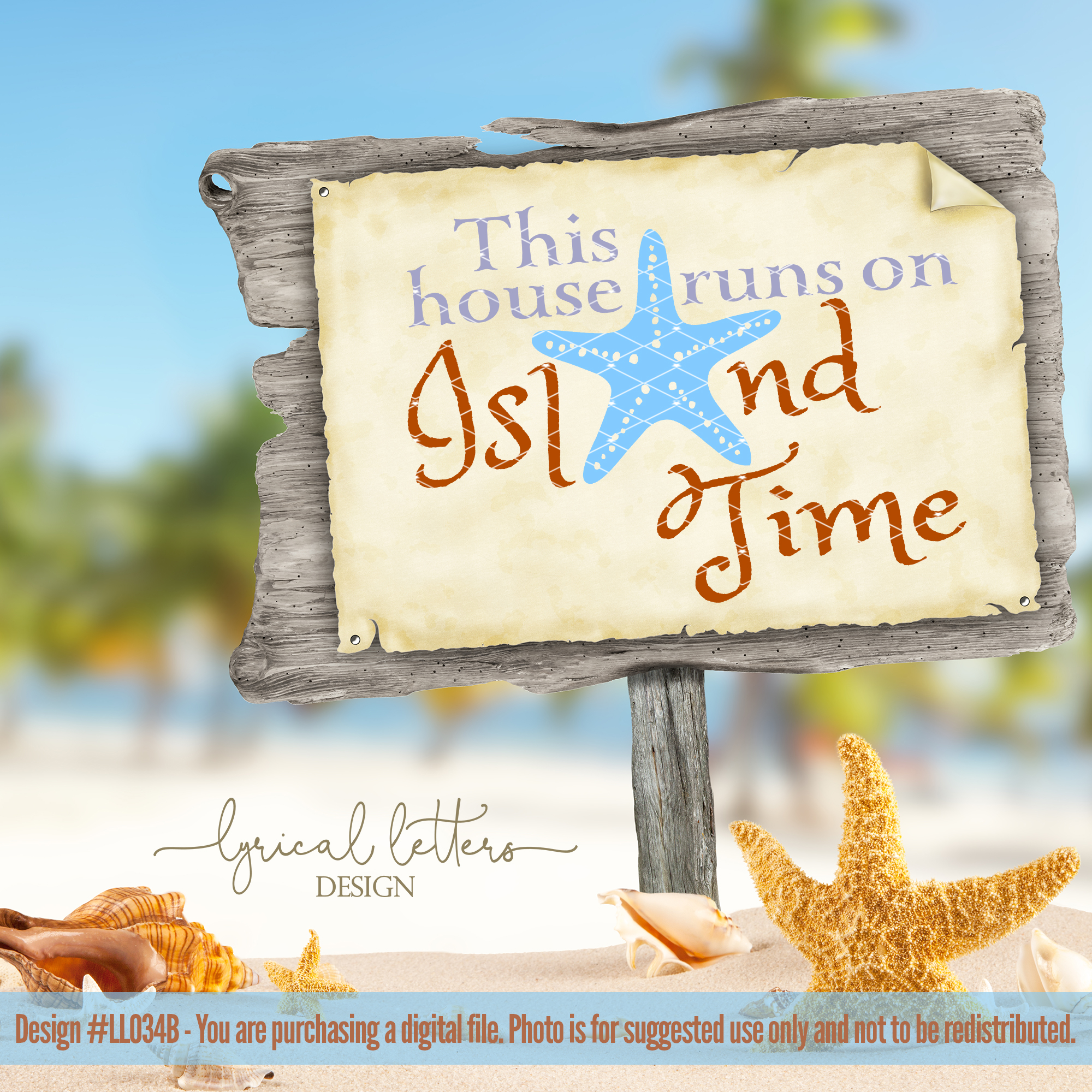 This House Runs On Island Time SVG DXF LL034B example image 2