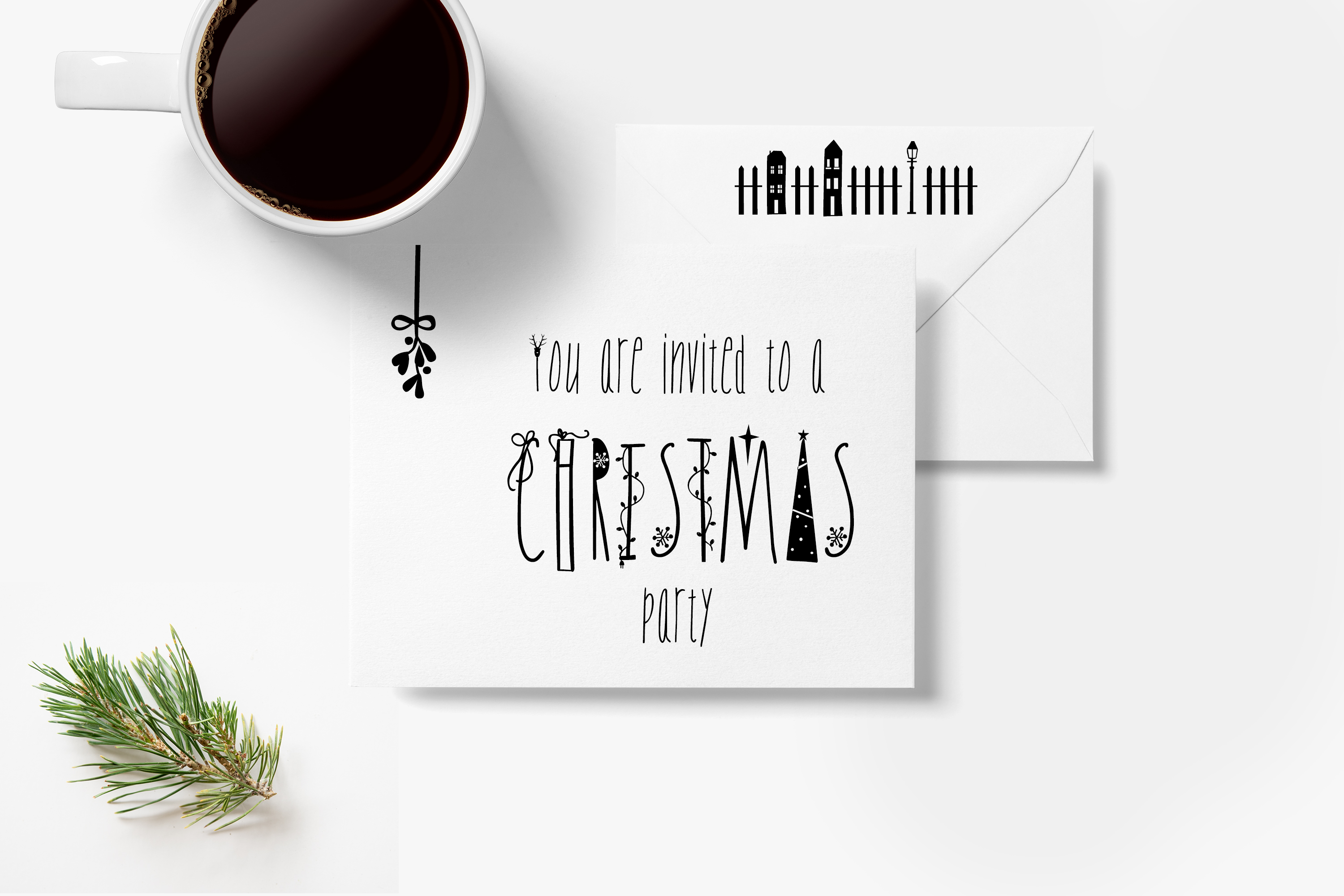 JINGLE FONT - a Christmas Typeface with Bonus DOODLES example image 2