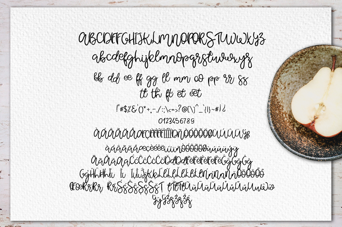 Pear Dragon.Sweet font duo&extras example image 10
