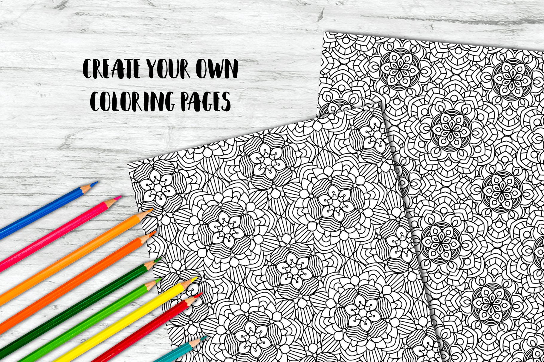 100 Mandalas Seamless Patterns example image 8