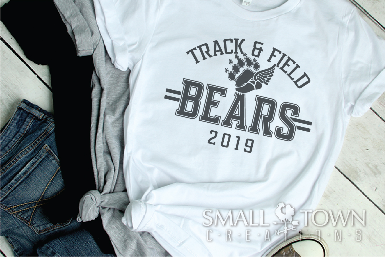 Bears Track and Field, Bear mascot, logo, PRINT, CUT, DESIGN example image 2