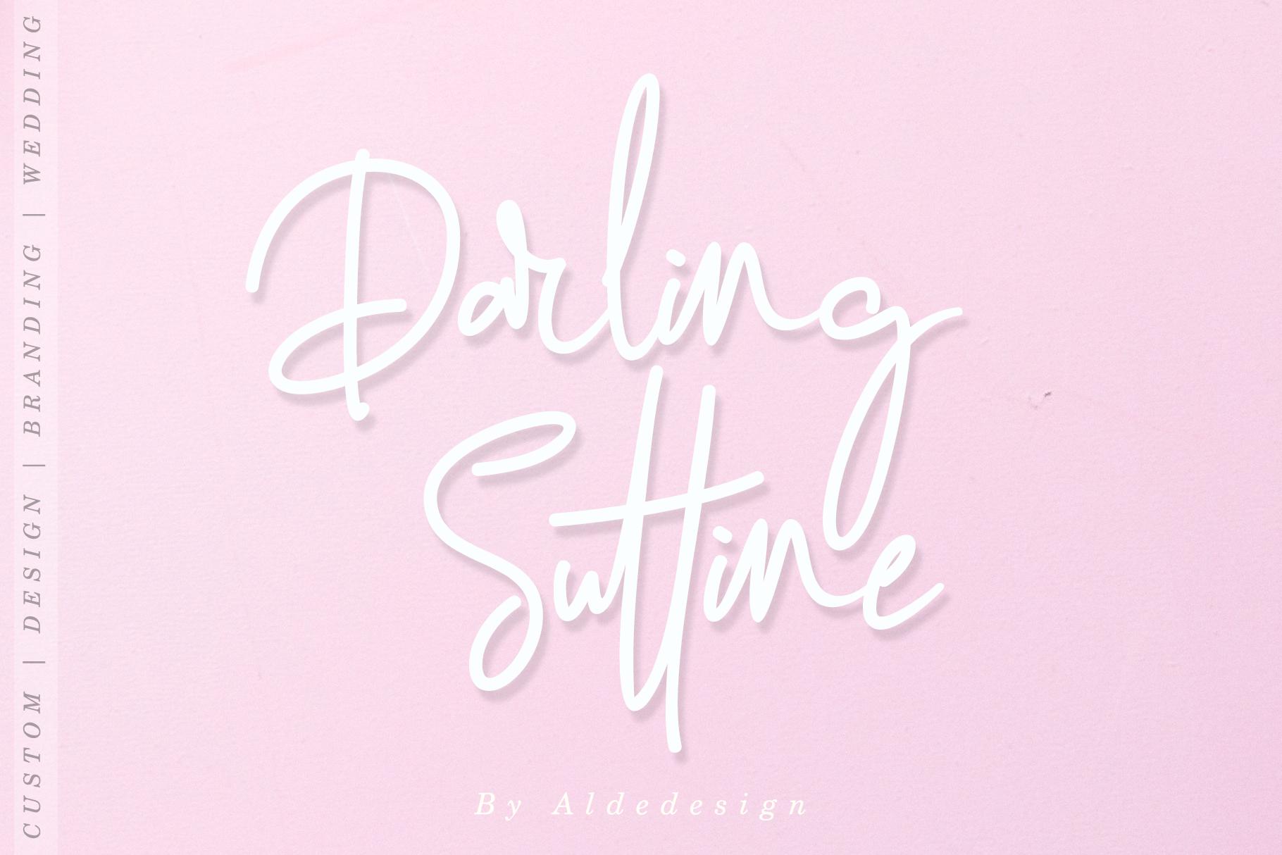 Darling Suttine | Signature Font example image 7