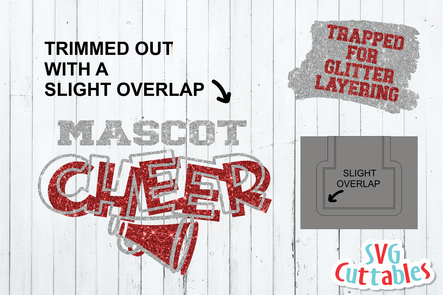 Cheer Template 0021, SVG Cut File example image 3