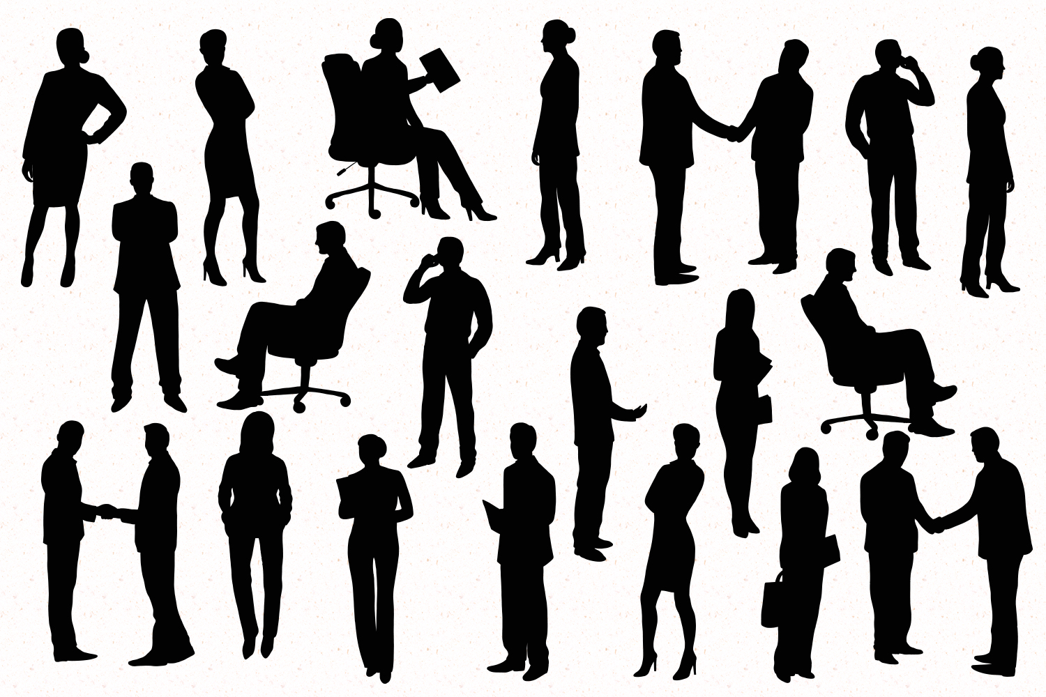 Business people silhouette example image 2