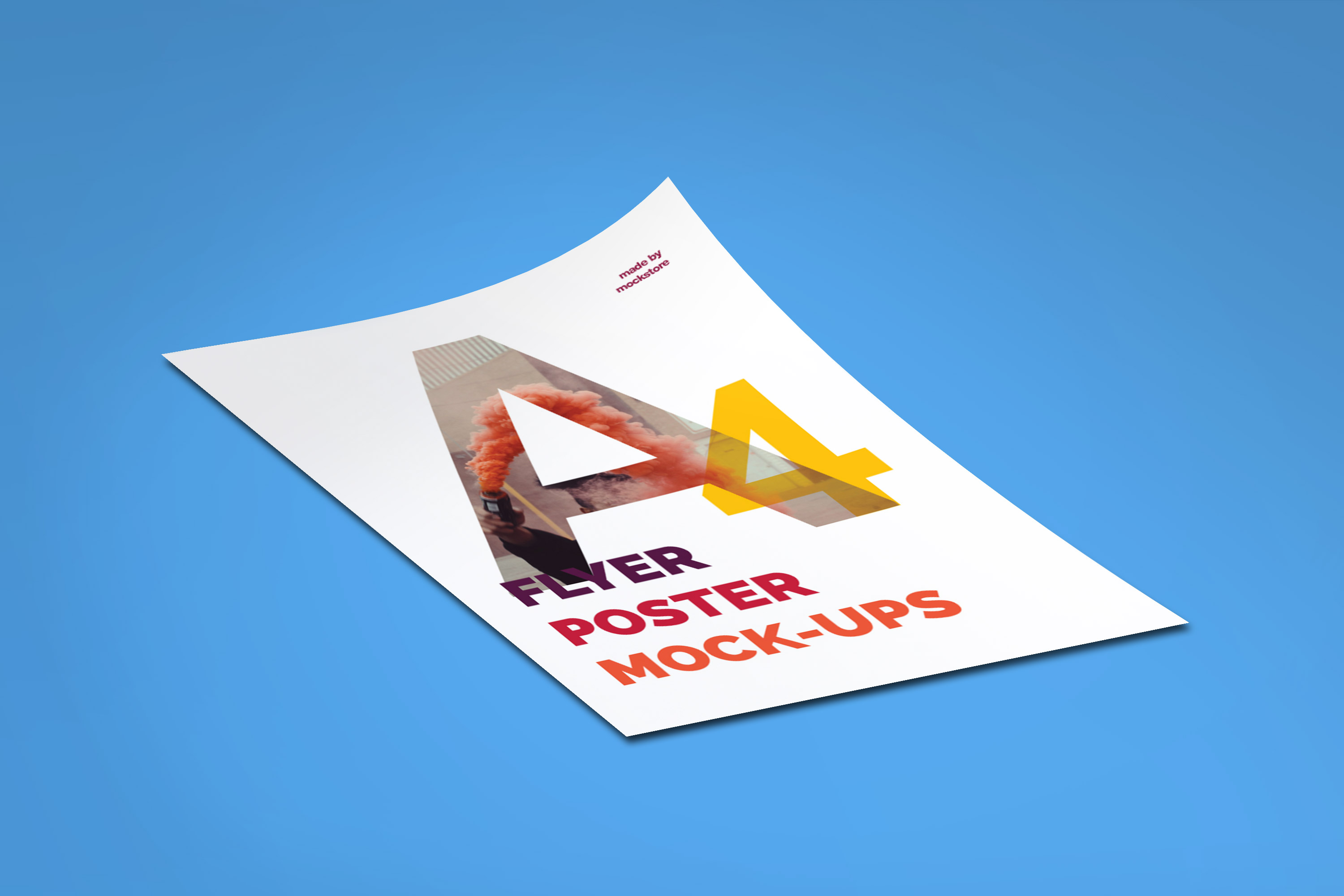 A4 Flyer / Poster Mockups example image 6