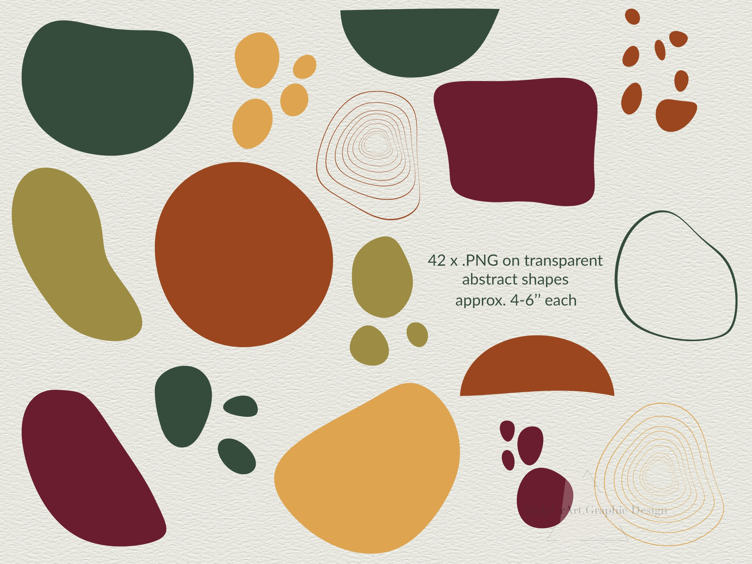 Modern Abstract Design Bundle - Autumn Clip Art example image 5