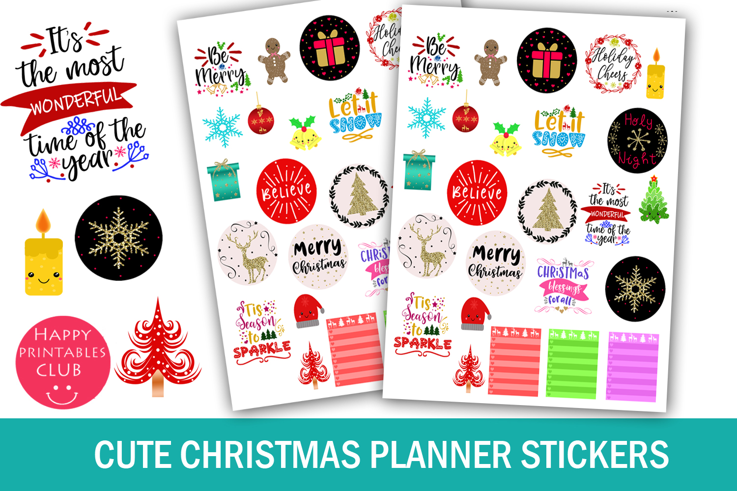 Christmas Planner Stickers Bundle- Holiday Stickers Bundle example image 3