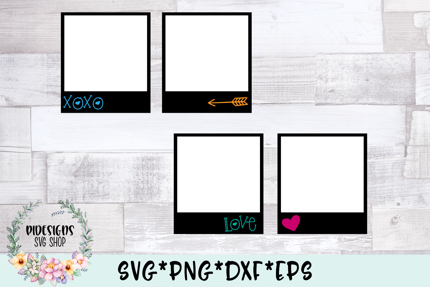 Camera Frames Clipart Photography SVG Cut File example image 1