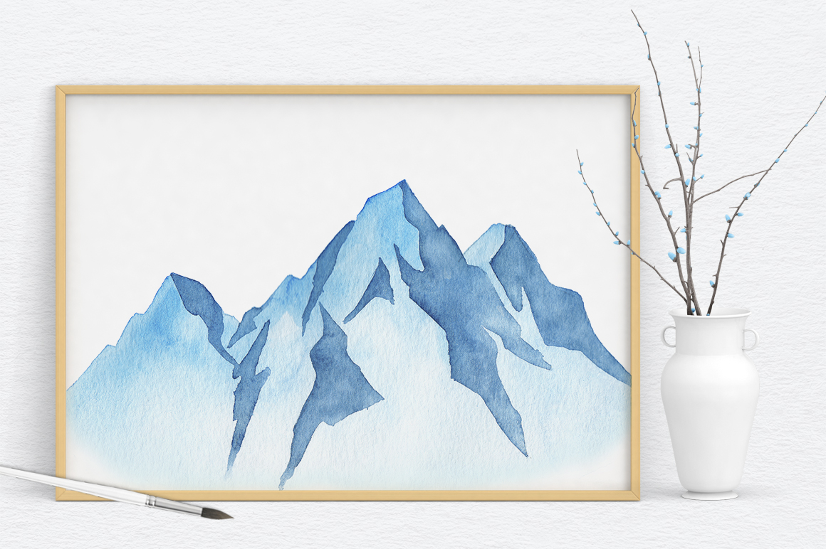 Mountains Watercolor Set example image 6