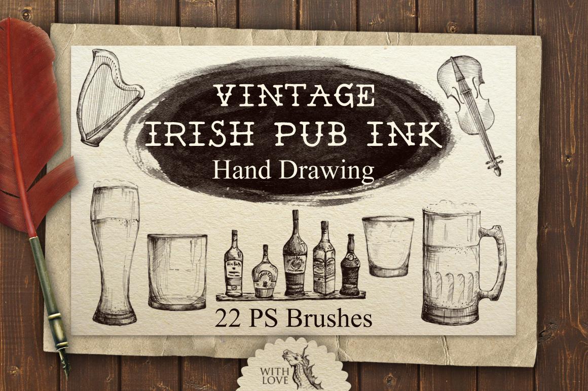 Irish Pub Ink Vintage PS Brushes example image 1