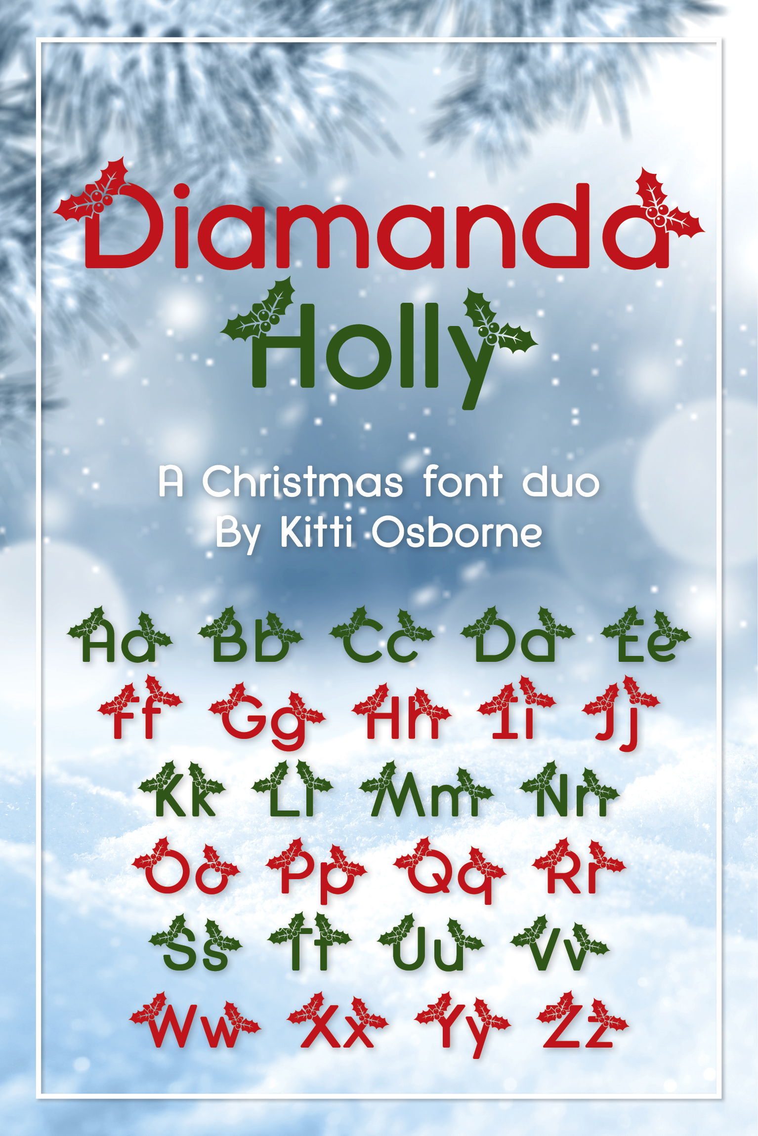 Spotlight, Holly and Bold, Diamanda Christmas Trio Bundle example image 8