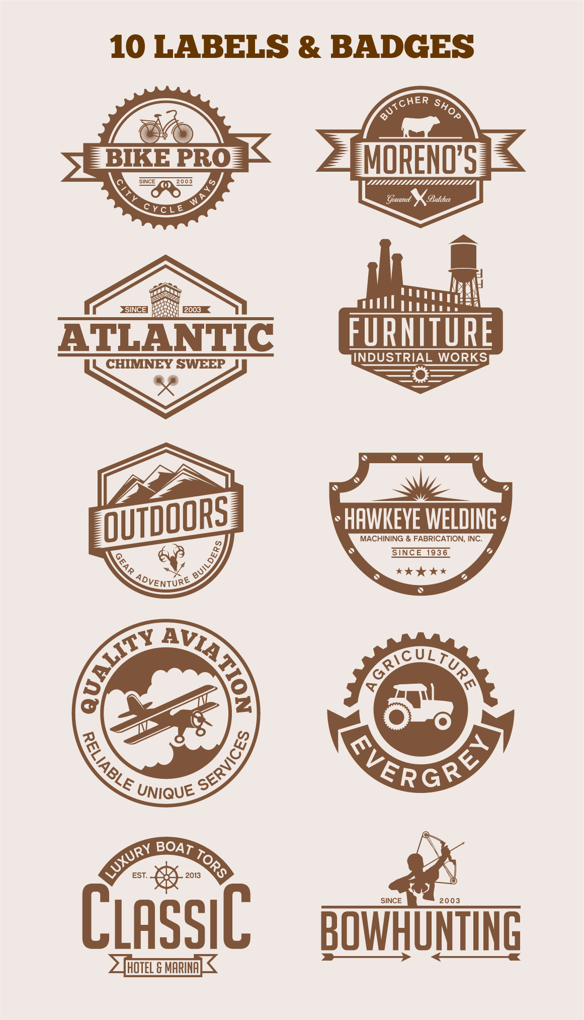 Vintage Labels & Badges example image 1