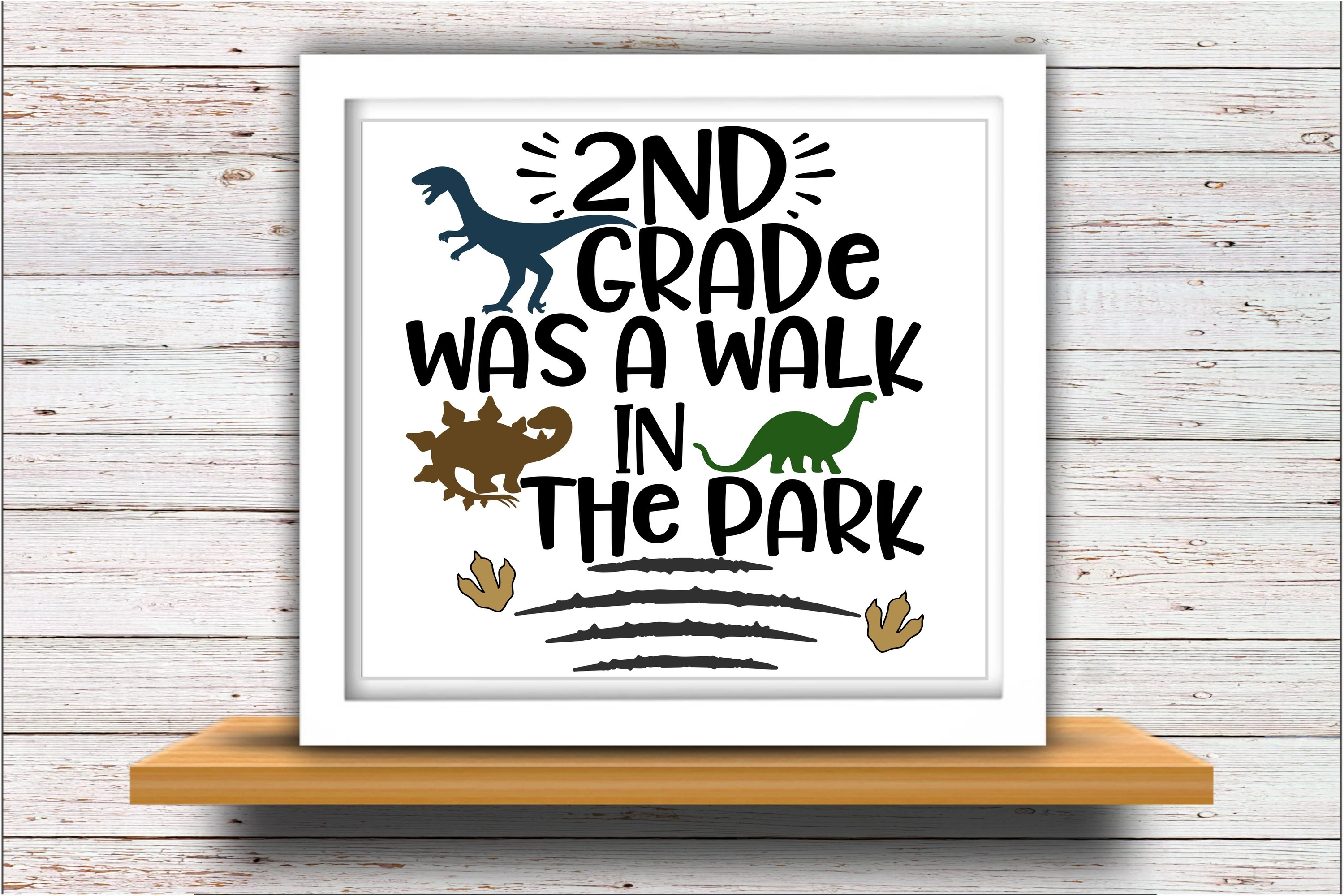 2nd grade SVG DXF Silhouette Cameo Cricut last day of school example image 2