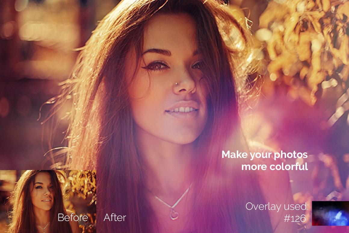 119 Colorful Light Leaks Photo Overlays example image 4