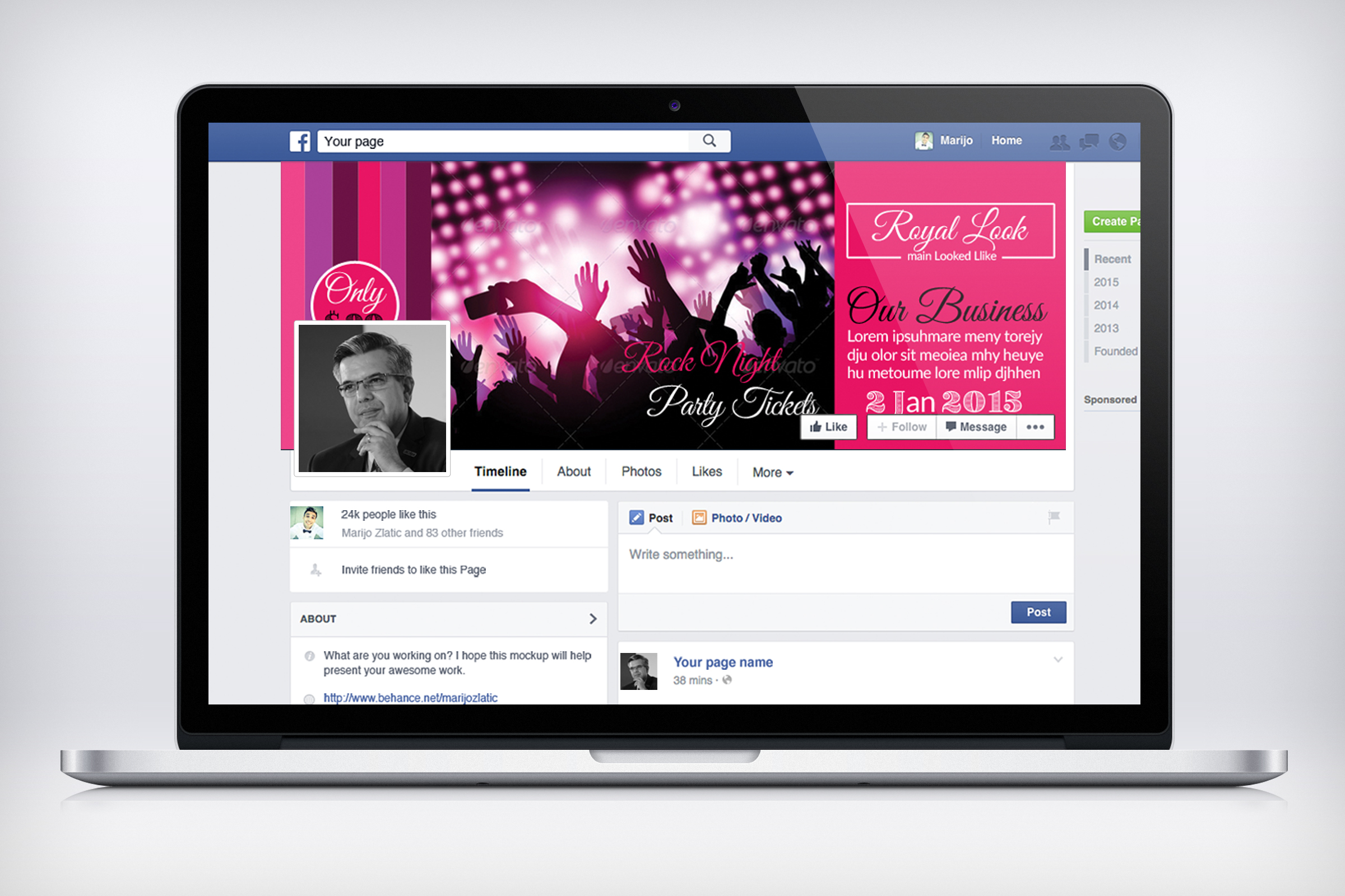 Music Concert Night Facebook Timeline Cover example image 3