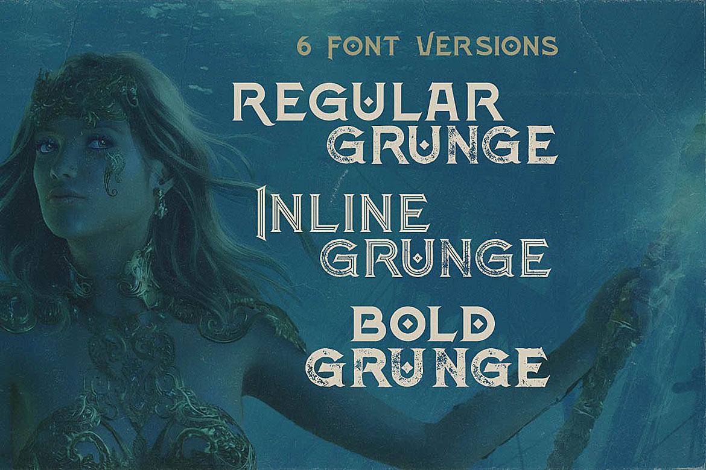 Atlantis - Vintage Style Font example image 2