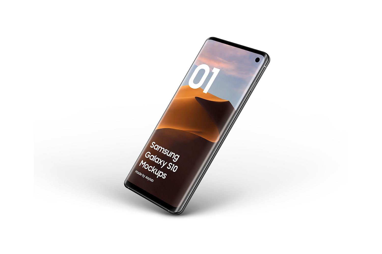 Samsung Galaxy S10 - 21 Mockups - 5K - PSD example image 24