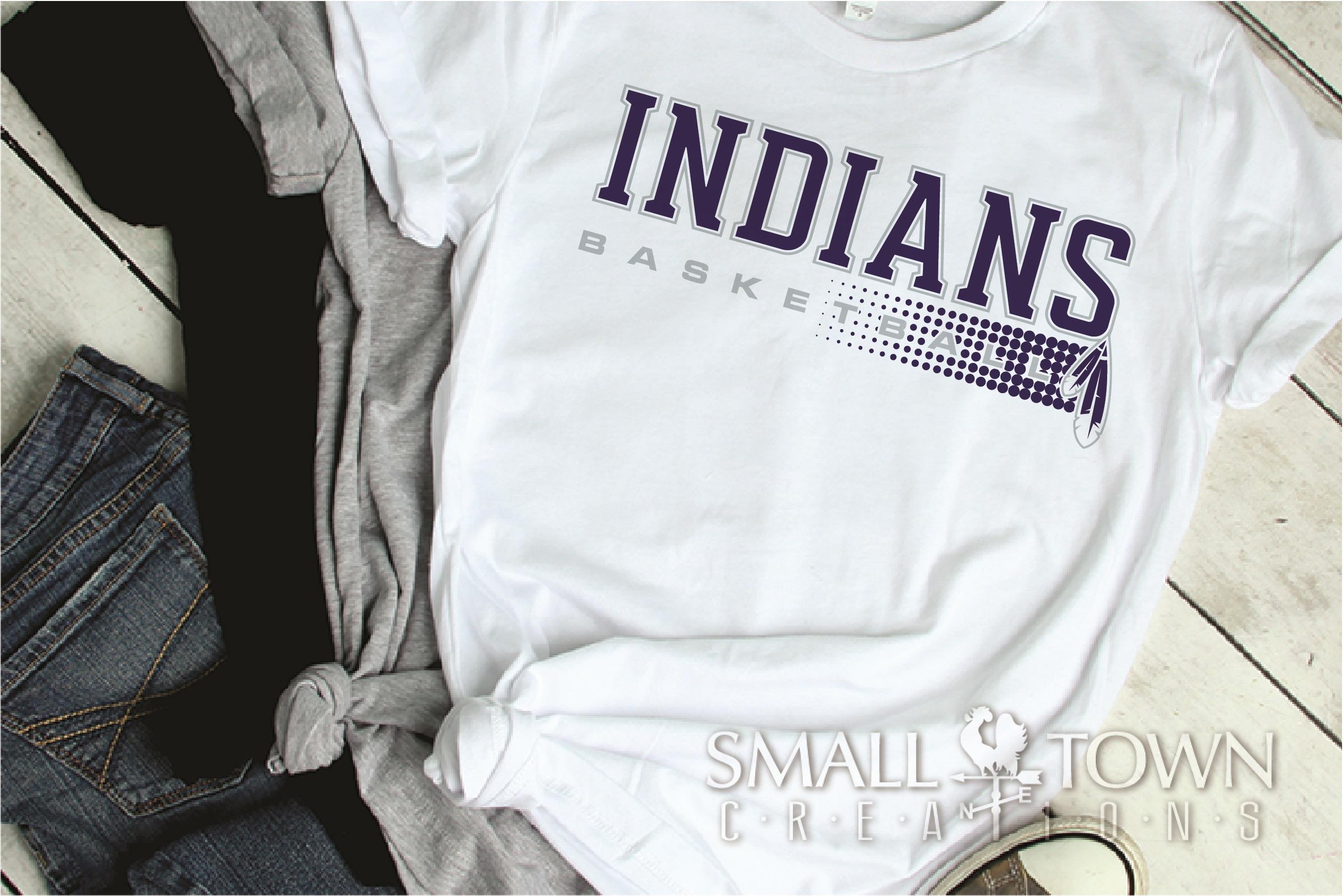 Indian, Indian basketball, Team, logo, PRINT, CUT & DESIGN example image 2