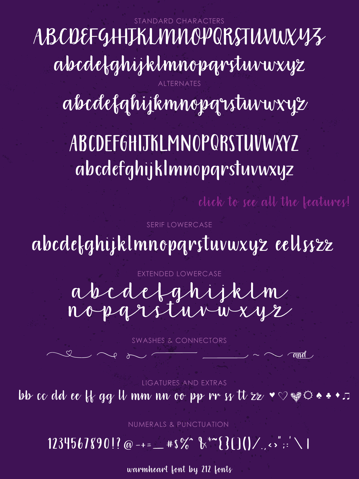Warmheart Font Family example image 8