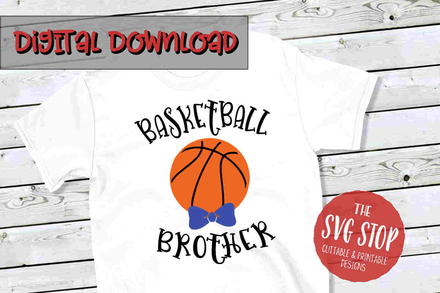 Basketball Brother -SVG, PNG, DXF example image 1