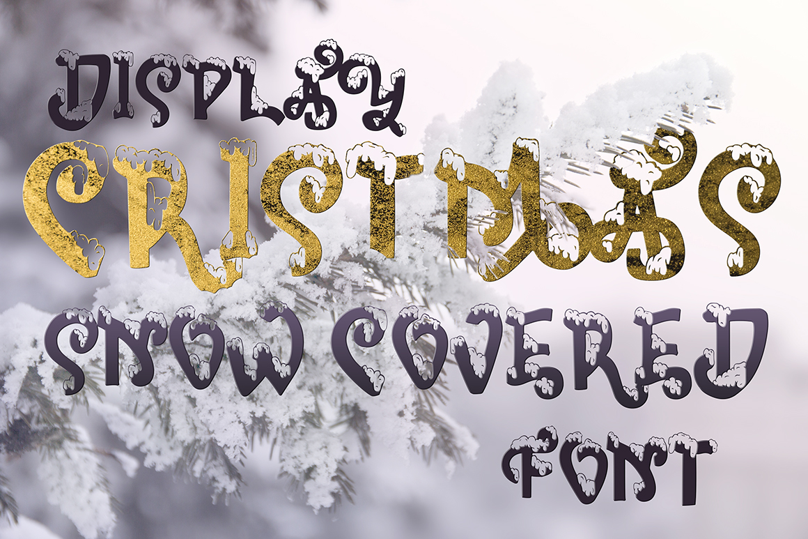Snow-covered display font example image 2