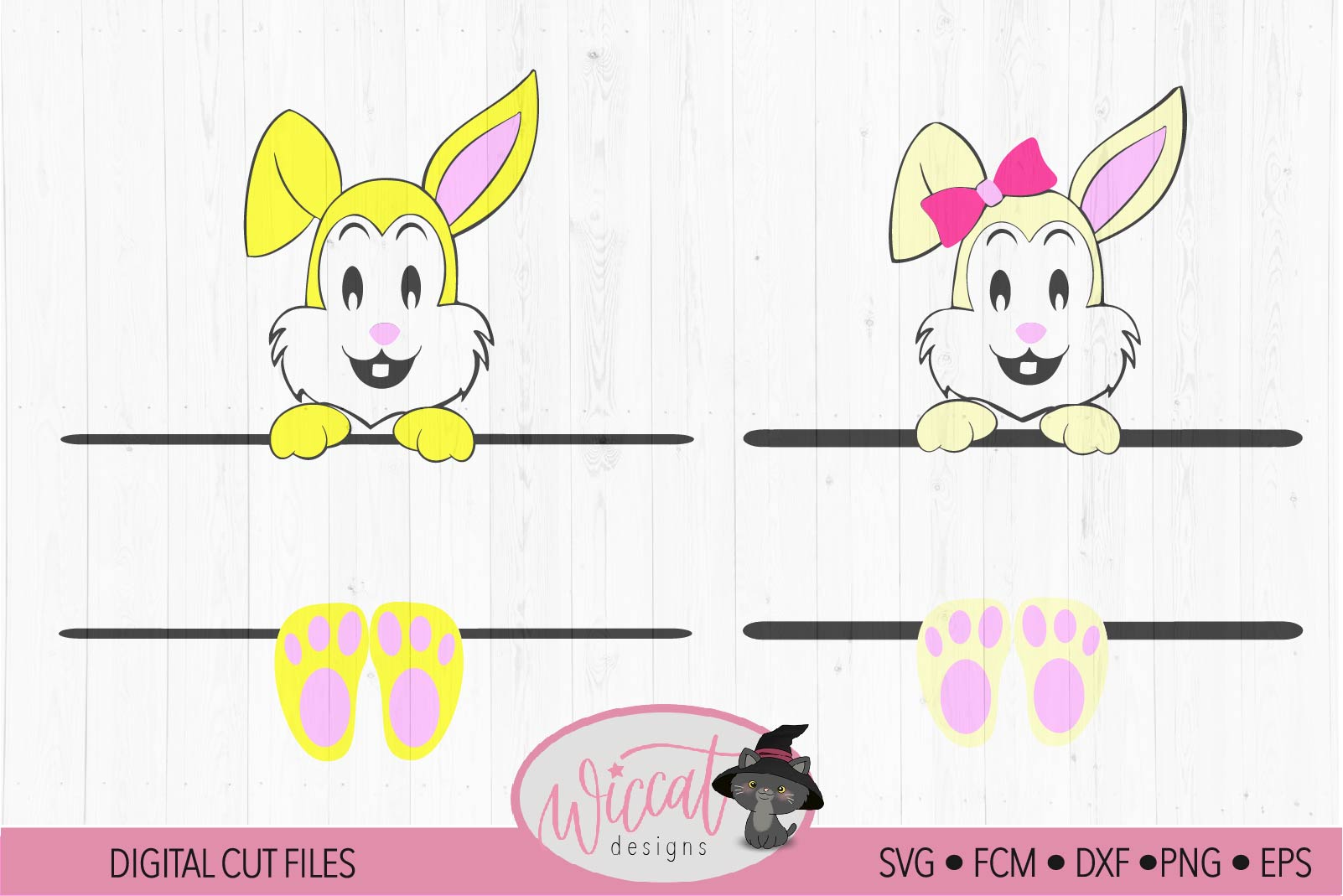 Easter Name banner, Easter bunny banner, example image 2