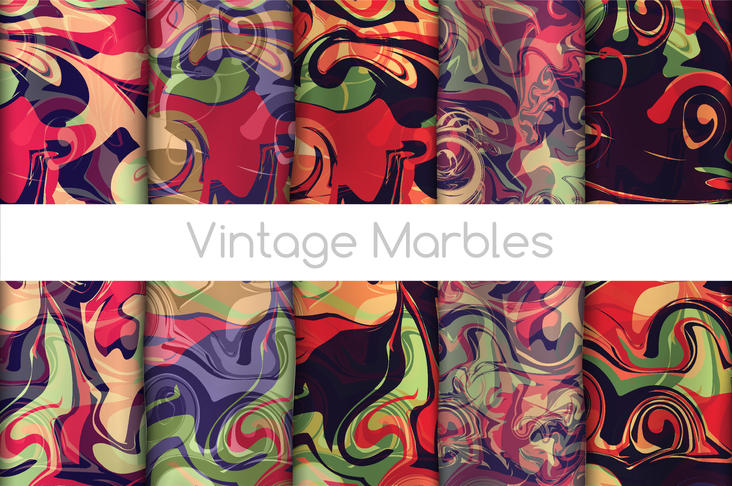The BIGGEST Marbled Paper Collection example image 9