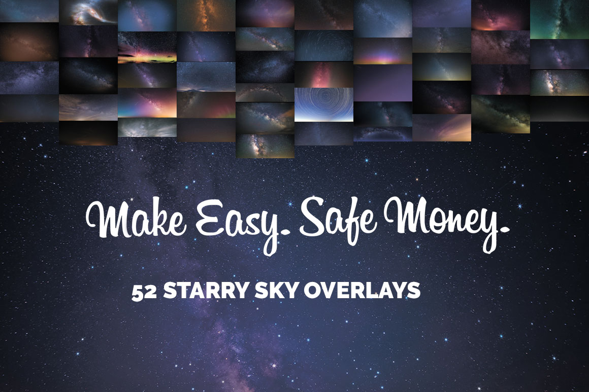 52 Starry Sky Photoshop Overlays example image 2