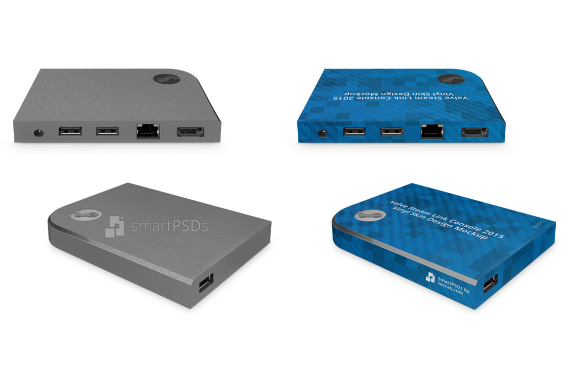 Valve Steam Link Gaming Console 2015 Vinyl Skin Mockup example image 1
