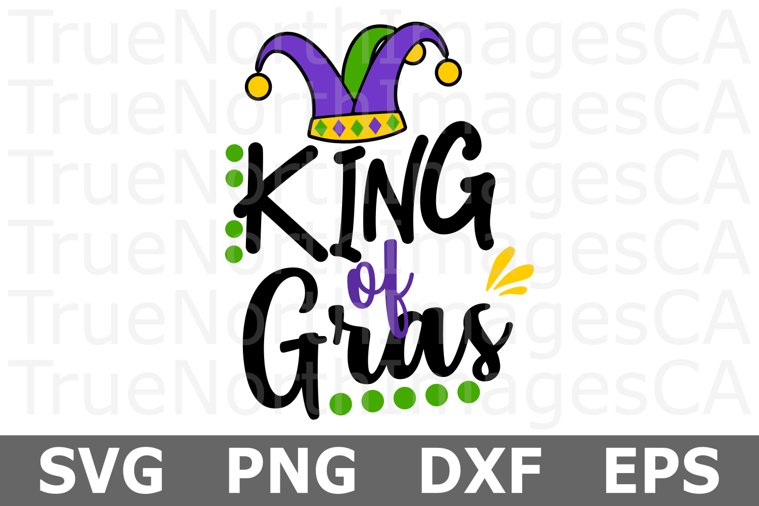 King of Gras - A Mardi Gras SVG Cut File example image 2